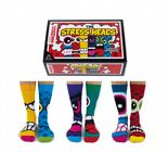 Oddsocks Stress Heads 6 odd socks (not pairs) for men